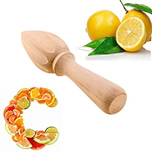 Pakdeevong shop Novelty Wood Kitchen Lemon Fruit Orange Reamer Squeezer Juicer Extractor