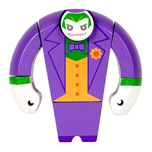 Qiyun Loot Crate DC Comics The Joker Painted Wooden Figure Brand New - Exclusive Wooden Elephant