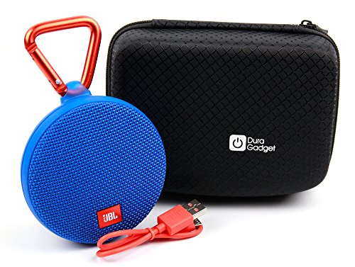 Jet Black Textured Hard EVA Carry Case for the JBL Clip / JBL Clip Plus Portable Speakers - by DURAGADGET by DURAGADGET