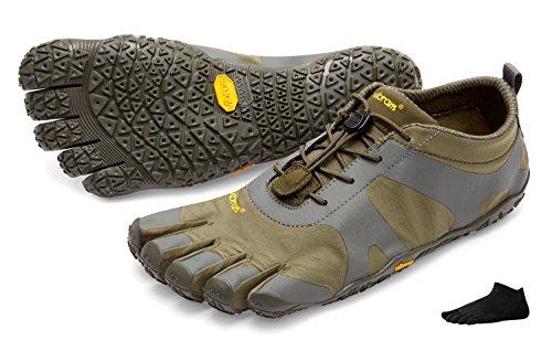 Vibram FiveFingers V-Alpha -Chaussures « pieds nus » de randonnée pour homme - Avec chaussettes à orteils Military/Darkgrey 2iXxm0cH9