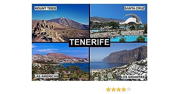 IMÁN PARA NEVERA - RECUERDO de TENERIFE CANARY ISLANDS SPAIN 9cm x 6cm Jumbo