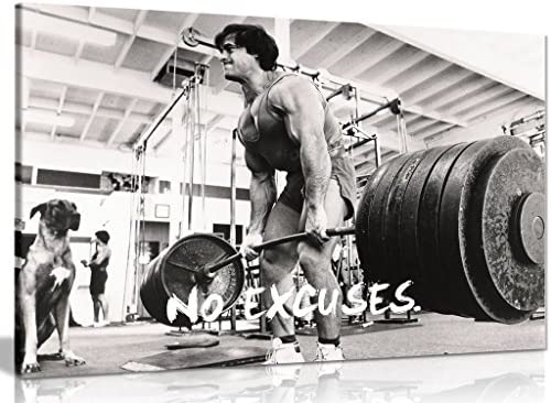 Bodybuilding Fitness Motivation Motivational Canvas Wall Art Picture Print 36x24in
