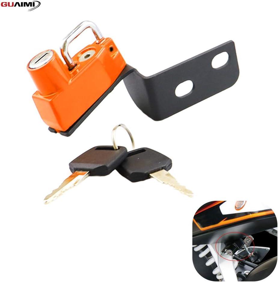 Motorcycle Anti-Theft Helmet Lock with Keys for KTM Duke 125 2012-2016 Duke 200 2013-2016 Duke 390 2014-2016 Duke 250 2015-2016-Black