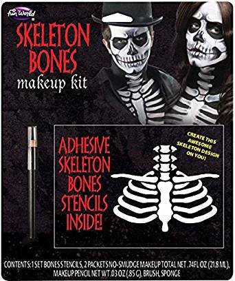 Skeleton Costume Accessories (Skeleton Bones Makeup Kit Costume Accessory)