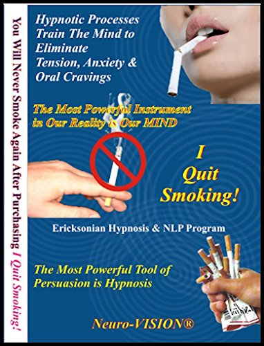 Neuro-VISION I Quit Smoking! Hypnosis & NLP (7 Sessions on 2 CDs) Stop Smoking Without Willpower, Stress, Cravings or Weight Gain by Neuro-VISION - Alan B. Densky, CH (Image #1)
