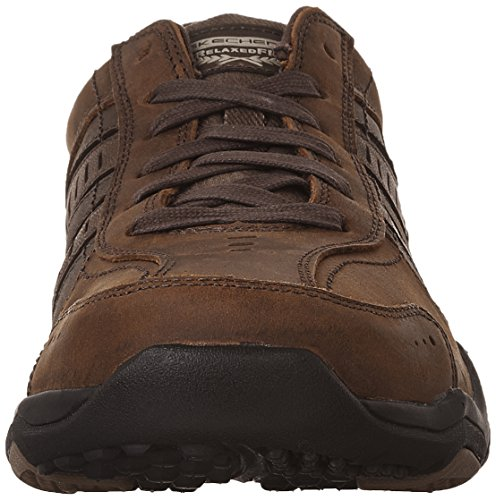 Skechers Usa Mens Larson Nerick Oxford Dark Brown
