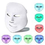 7 Color LED Mask, Beauty Star LED Photon Therapy 7 Color Light Treatment Skin Rejuvenation Facial Beauty Daily Skin Care LED Light Therapy Facial Mask
