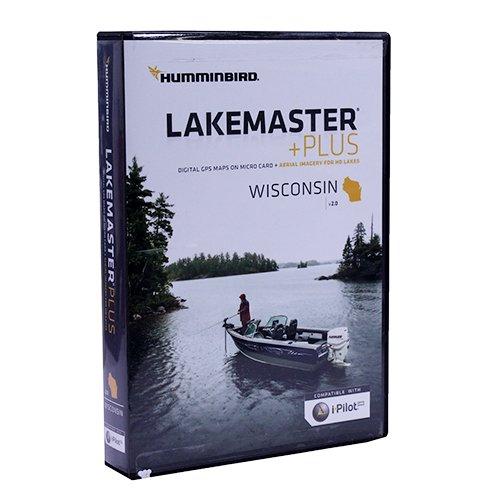 Humminbird LakeMaster Plus Wisconsin Edition Digital GPS Lake and Aerial Maps, Micro SD Card, Version 2 by Humminbird