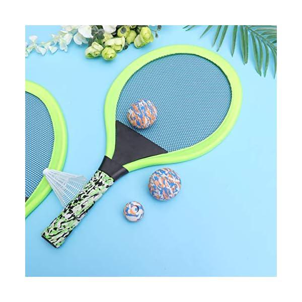 BESPORTBLE Set di Racchette da Tennis Maniglie Resistenti Badminton Racchette da Gioco Giochi da Spiaggia per Bambini… 7 spesavip