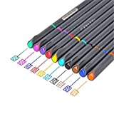 Fineliner Color Pen Set,0.38mm Colored Fine Line Point,Assorted Colors,10-Count