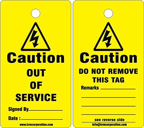 KRM LOTO - Out of Service Tags (Set of 50 pcs)