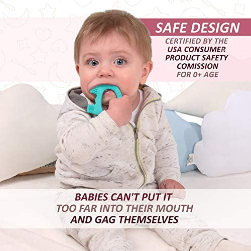51AEoUlkWHL. AC - Baby Teething Toys - BPA Free Silicone Toy - Cute, Easy To Hold, Soft And Highly Effective Elephant Teether - Unique Teethers Best For 0-6 6-12 Months Boy Or Girl Christmas Gifts Stocking Stuffers