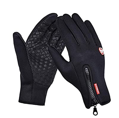 ISEYMI Unisex Winter Gloves Windproof Touch Screen Gloves Outdoor Cycling Warm Ski Gloves