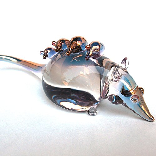 Opossum Possum Figurine of Hand Blown Glass