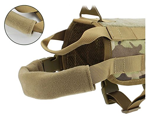 MD Group Dog Harness Army Tactical Dog Vests Hunting Training Molle Vest Outdoor Clothes by MD Group (Image #3)