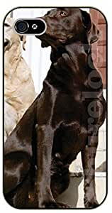 iPhone 6 Case Big brown dog - black plastic case / dog, animals, dogs