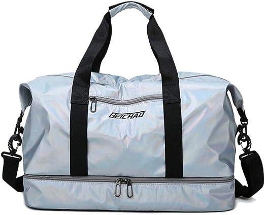 2020 bolsos de gimnasio de Fitness para mujer, bolso de entrenamiento grande de nailon con bolsillo, bolsa de viaje para mujer