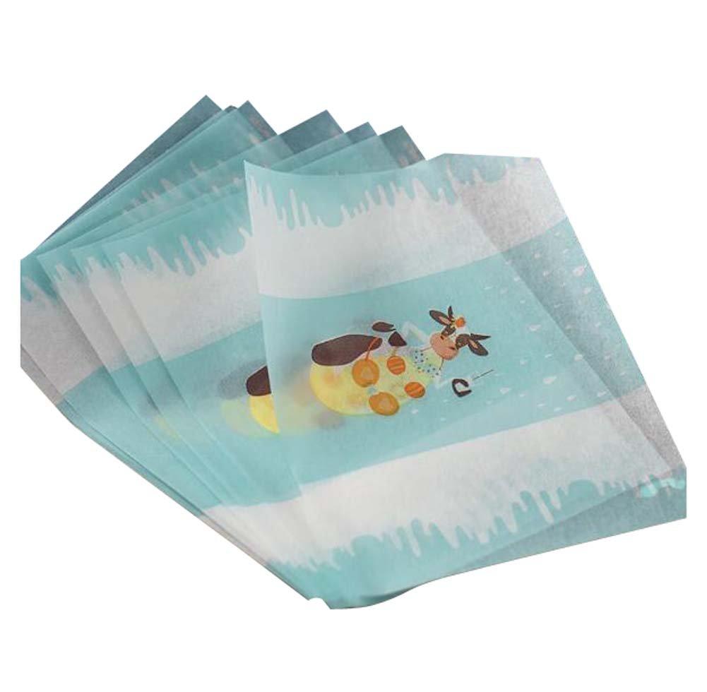 DRAGON SONIC 50 PCS Cute Twisting Wax Paper Nougat Paper Wrappers Candy Paper 125CM-C3