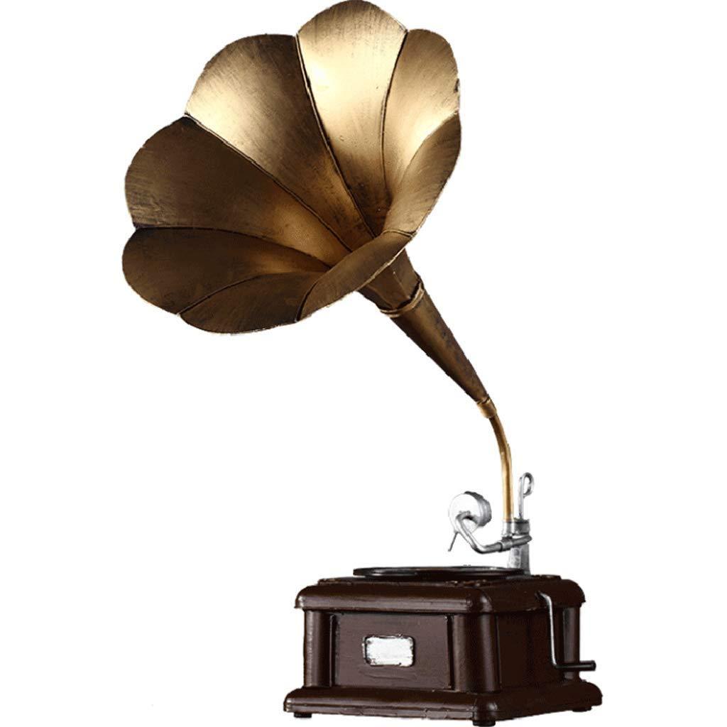 MDBLYJ Artesanía Metal Antiguo fonógrafo Tocadiscos Retro ...