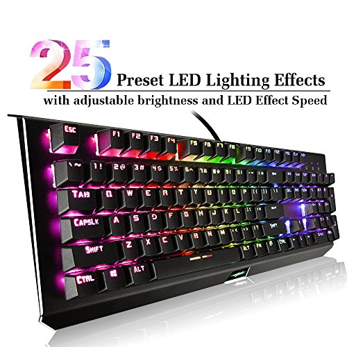 magicelec Mechanical Keyboard, 104 Backlit Anti-Ghosting Keys with Adjustable Colors, RGB Mechanical Keyboard,Pro Gamer Style USB Wired