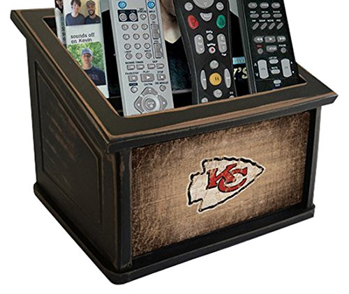 Fan Creations N0765-KCC Kansas City Chiefs Woodgrain Media Organizer, Multicolored by Fan Creations