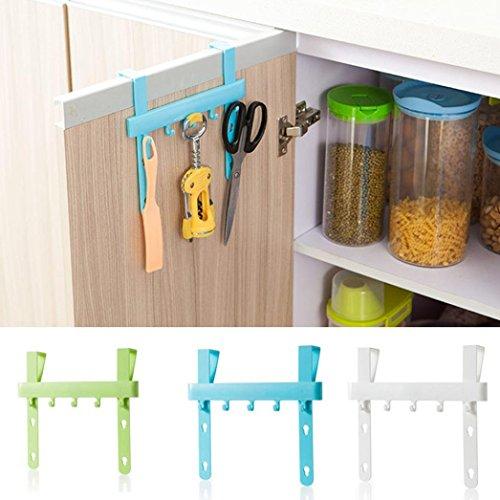 LtrottedJ Kitchen Door Rack ,Hooks Hanging Storage