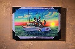 Ohio Wholesale Daybreak Fishin Lighted Canvas 8\