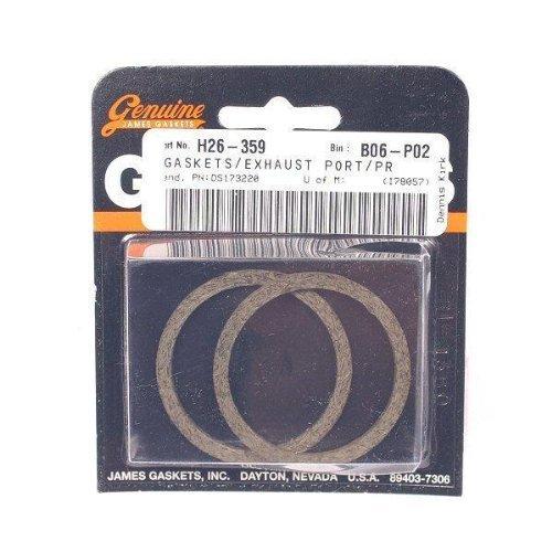 Copper Crush Ring Gaskets and Heavy-Duty Hex Nuts JGI-65324-83-KCR2 James Gasket Exhaust Port Gasket Kit