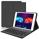 iPad Mini Keyboard Case Compatible iPad Mini 5 (5th Gen 2019) - iPad Mini 4 - iPad Mini 3 - iPad Mini 2 & 1 - Folio Leather Protective Cover, Ultra Thin & Light, Wireless Bluetooth Keyboard, Black