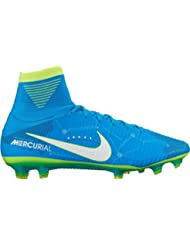 Nike Men's Mercurial Superfly V NJR FG Soccer Cleat (Blue Orbit) (10.5)