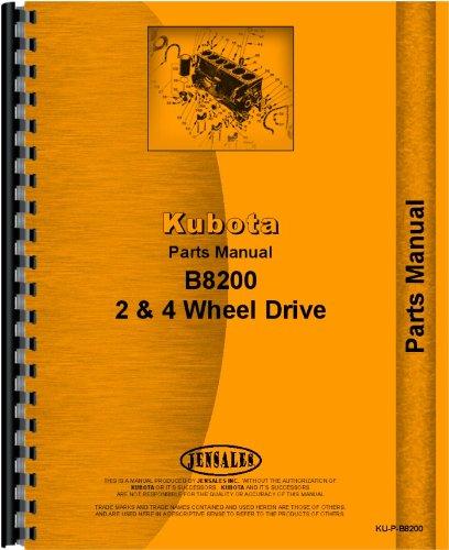 Kubota B8200 Tractor Parts Manual from Kubota