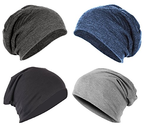 Gajraj Beanie Caps for Men & Women Without Ring (Pack of 4)