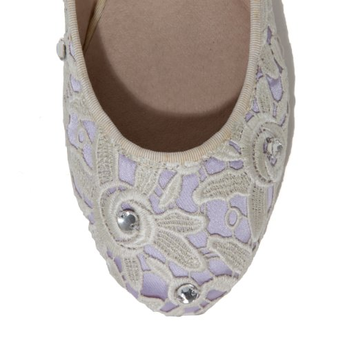 amp; Lace Shoes Flat COUTURA for Light Satin Women Flats Ballet Lavender Flats Ballet Satin Flats Ballet Eqww0t