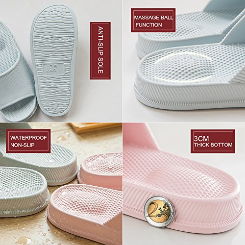 Women Toe Sandals Massage Open Non Slippers Coffee Men INFLATION Bath Anti Shower Slip Home Slip Slipper Unisex Indoor FxwSqn4Ep