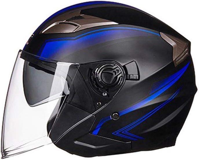 Casque de moto ouvert Moto cyclomoteur Jet Bobber Pilot Crash Chopper 3//4 demi-casque avec pare-soleil pour hommes adultes femmes couleur: blanc taille: M