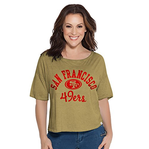 Touch by Alyssa Milano NFL San Francisco 49ers Women's Second Base Reversible Tee, Medium, Gold