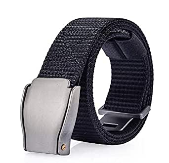 Black Canvas Belt For Unisex