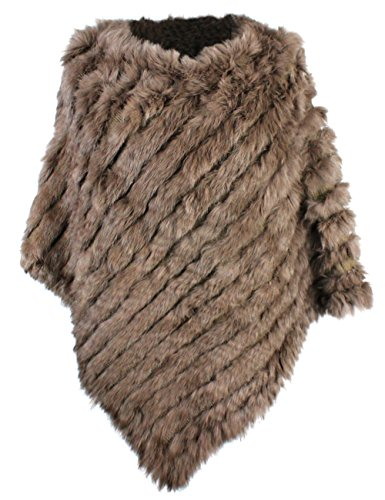 Used, bestfur Women's Genuine Knitted Rabbit Fur Loose Cape for sale  Delivered anywhere in USA