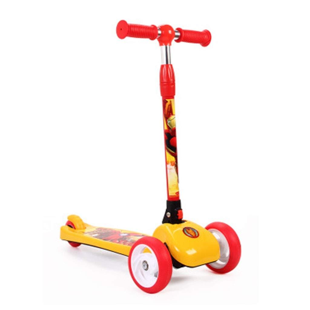 punto de venta C SAN_Q Scooter Infantil De Tres Ruedas, Flash Flash Flash Completo, Un Segundo, Columpio Plegable.  bienvenido a elegir