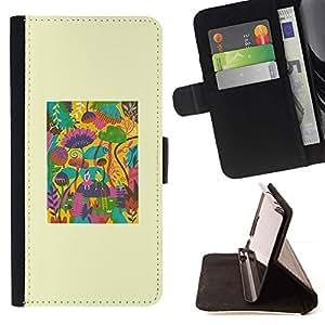Momo Phone Case / Flip Funda de Cuero Case Cover - Modelo abstracto del cartel minimalista - LG G4c Curve H522Y (G4 MINI), NOT FOR LG G4