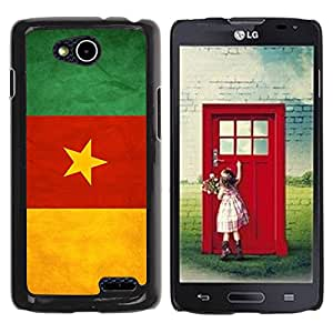 Paccase / SLIM PC / Aliminium Casa Carcasa Funda Case Cover - National Flag Nation Country Cameroon - LG OPTIMUS L90 / D415