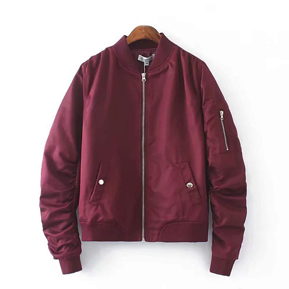 Women JKRED Women Winter Warm Thick Coat Pure Color Zipper Easy Cardigan Jacket