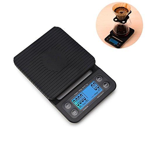 Báscula digital de cocina, Aolvo de 10 kg, báscula multifunción de peso, báscula electrónica para hornear y cocinar con...