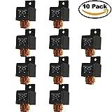 Ehdis® [10 Pack] 5-Pin JD2912-1Z-12VDC 80A 14VDC SPDT Truck Boat Van Vehicle Automotive Car Relay 12V Switch