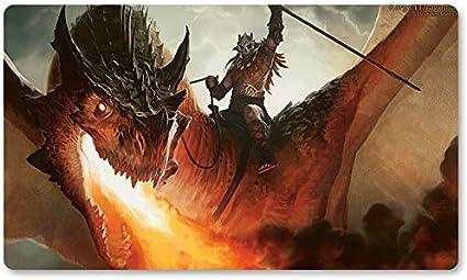 Alfombrilla de Juego para Juegos de Mesa de Kargan Dragonlord de Yugioh Pokemon Magic The Gathering, Juego de Mesa MTG de 60 x 35 cm: Amazon.es: Oficina y papelería