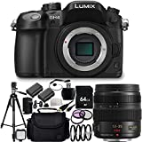 Panasonic Lumix DMC-GH4 Mirrorless Micro Four Thirds Digital Camera & Panasonic Lumix G X Vario 12-35mm f/2.8 Asph. Lens for Micro 4/3 20PC Accessory Kit Includes 64GB Memory Card + High Speed Memory Card Reader + 2 Replacement BLF19 Batteries + MORE