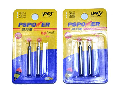 Outdoor Planet CR435 Lithium Battery, High Capacity 3v Pin Type Pin Cell Pack of 10 Pieces