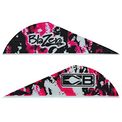Image of Bohning True Color 2' Blazer Vanes Pink Camo Blazer Vane, 1000pk Fletches