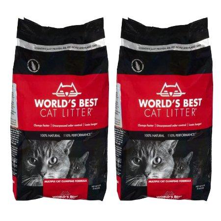 World's Best Cat Litter Multiple Cat Clumping Formula, 8 Pounds, 2 Pack