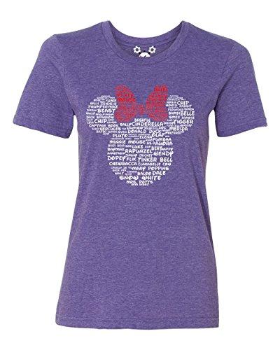 - DisGear Name That Disney Character Minnie Tee (Regalia, Small)